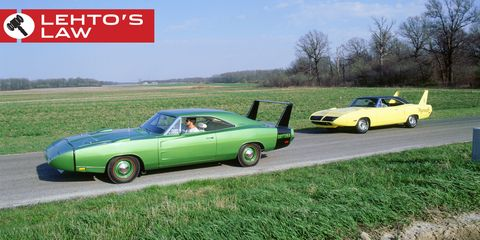 the plymouth superbird was actually slower than the dodge charger