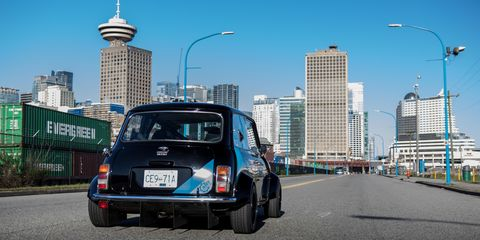 Driving this Motorcycle-Powered Mini Cooper Is the Best Kind of Crazy