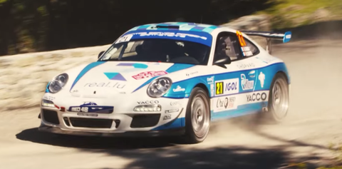 Watch A Rally Prepped Porsche 911 Gt3 Rs 4 0 Fly Through Tour De Corse