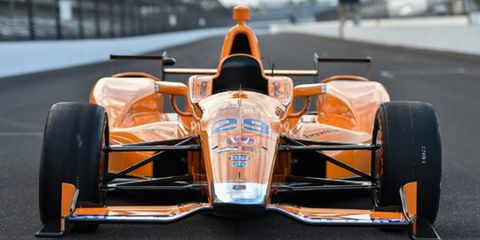 Fernando Alonso Indy 500 car McLaren Orange