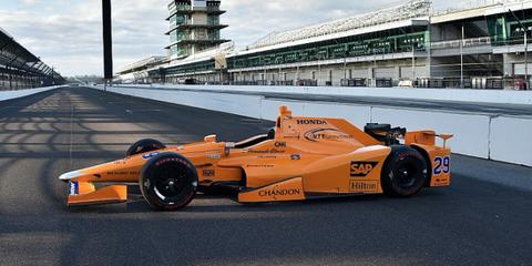 Fernando Alonso Indy 500 McLaren orange car