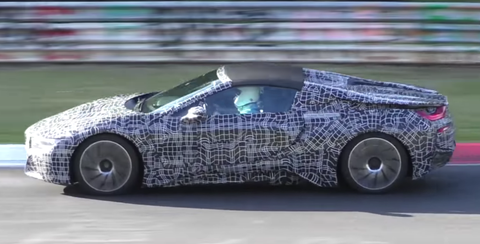 Watch The Bmw I8 Spyder Testing At The Nurburgring On An Open Track Day