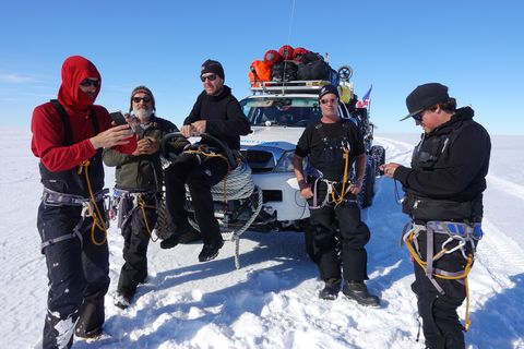 """<p>No vehicles had traveled this route before. The main challenge was&nbsp;finding a new route across&nbsp;crevasses&nbsp;and the Jutulstraumen, an ice flow that moves up to 13 feet&nbsp;per day through otherwise slow moving ice shelf.<span class=""""redactor-invisible-space"""" data-verified=""""redactor"""" data-redactor-tag=""""span"""" data-redactor-class=""""redactor-invisible-space""""></span></p>"""