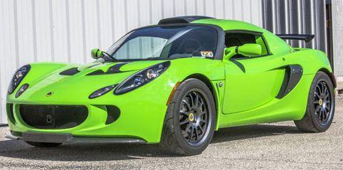 Land vehicle, Vehicle, Car, Supercar, Sports car, Lotus exige, Lotus elise, Green, Motor vehicle, Coupé,