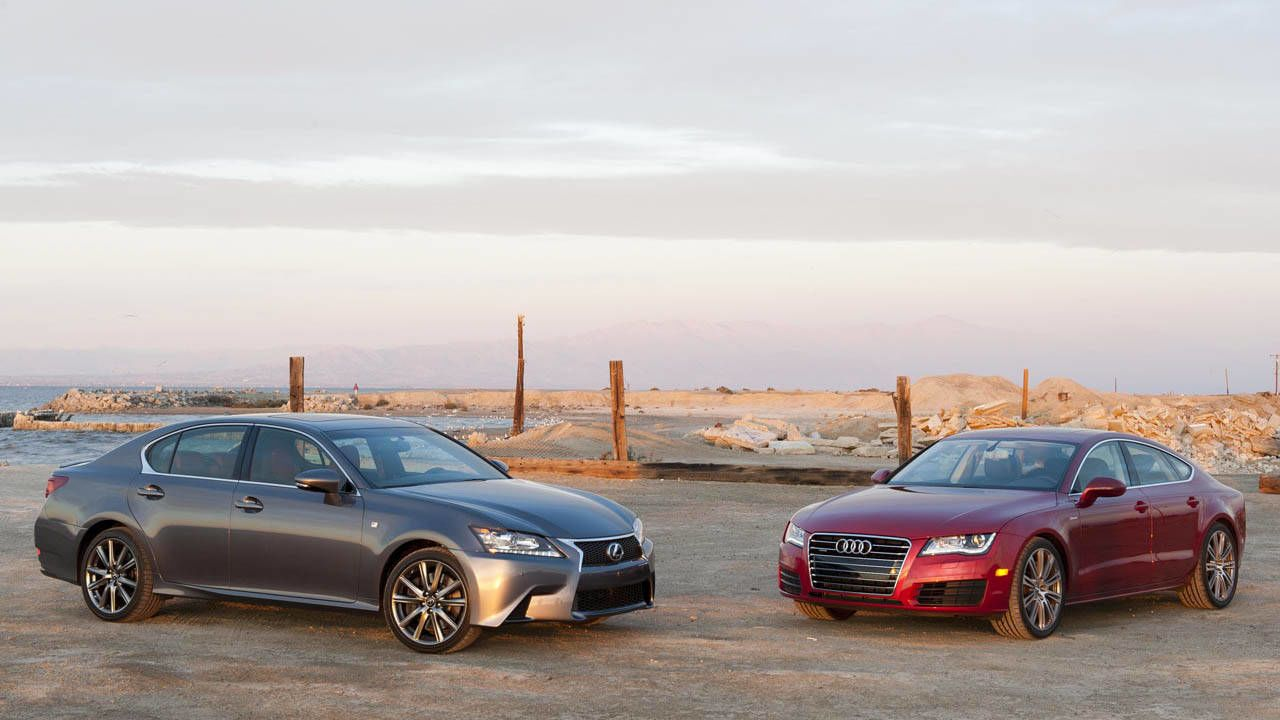 Photos 2012 Audi A7 30 TFSI Quattro vs 2013 Lexus GS 350 F Sport