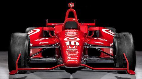 Tire, Automotive tire, Automotive design, Open-wheel car, Vehicle, Car, Automotive exterior, Red, Formula one car, Race car,
