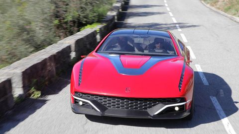 Automotive design, Mode of transport, Vehicle, Hood, Grille, Automotive exterior, Performance car, Car, Red, Personal luxury car,