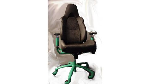 Product, Green, Chair, Armrest, Office chair, Plastic, Leather, Massage chair,
