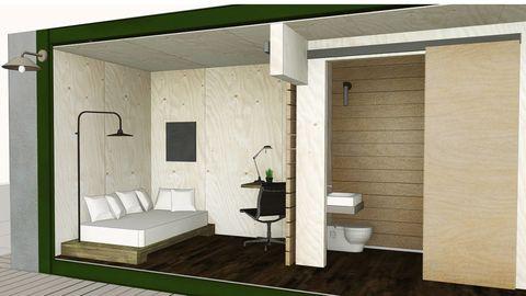 Floor, Wood, Room, Property, Wall, Flooring, Interior design, Ceiling, Bed, Real estate,