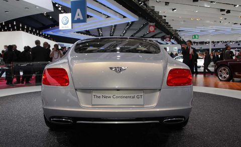 Automotive design, Vehicle, Car, Vehicle registration plate, Personal luxury car, Automotive tail & brake light, Bentley, Luxury vehicle, Automotive lighting, Mid-size car,