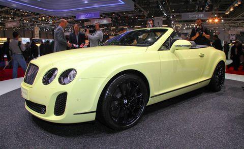 2011 Bentley Continental Supersports Convertible At 2010 Geneva