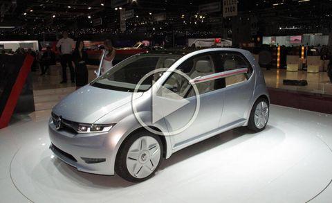 Italdesign Giugiaro Volkswagen Tex And Go Concepts Video At 2011