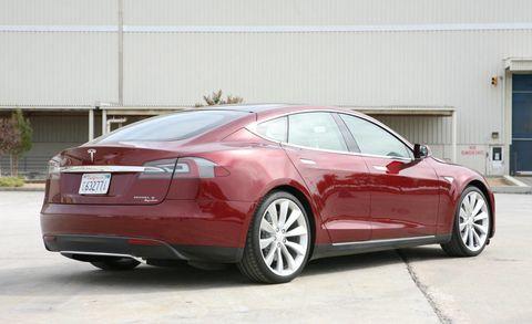 Tesla Model S First Drive Tesla Sedan EV - 2013 tesla model s range