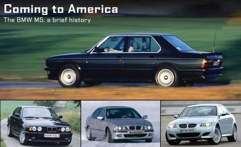 The History Of The Bmw M5 The Bmw M5 Over The Years