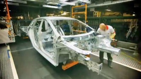 Watch a car get built in two minutes