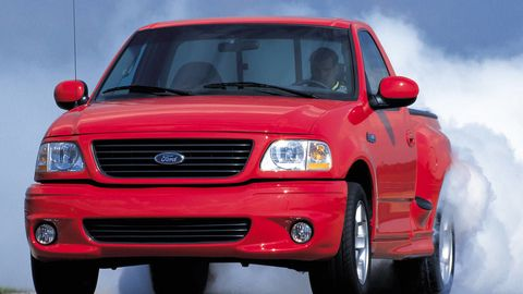 Land vehicle, Vehicle, Car, Ford lightning, Motor vehicle, Pickup truck, Ford, Bumper, Hood, Grille,