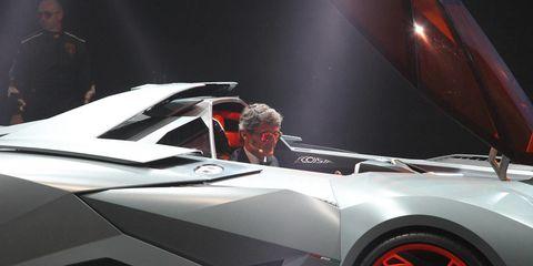 Photos of the Lamborghini Egoista - Wild New Single-Seat Supercar