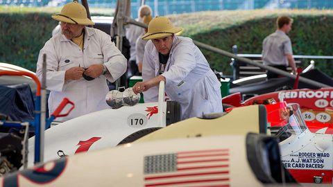 Hat, Formula one, Open-wheel car, Sun hat, Fashion accessory, Formula one car, Formula racing, Headgear, Logo, Race car,