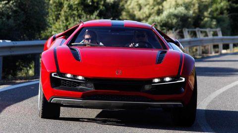 Automotive design, Mode of transport, Vehicle, Transport, Automotive mirror, Car, Automotive exterior, Performance car, Red, Automotive lighting,