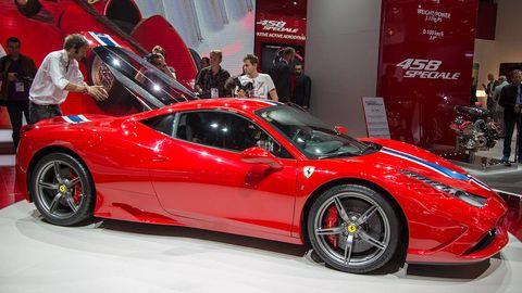 Tire, Wheel, Automotive design, Vehicle, Event, Land vehicle, Red, Car, Performance car, Supercar,