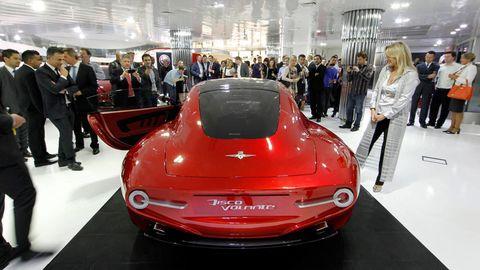 Automotive design, Event, Vehicle, Land vehicle, Car, Auto show, Exhibition, Personal luxury car, Luxury vehicle, Fashion,