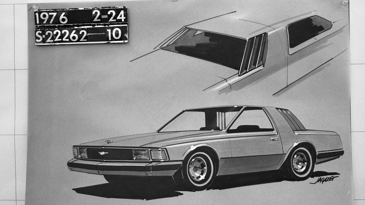 Fox body ford mustang sketch to production slideshow of the design evolution