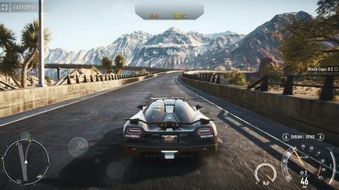 Mode of transport, Automotive design, Mountainous landforms, Mountain range, Car, Asphalt, Mountain, Racing video game, Bumper, Windshield,