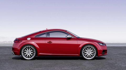 Tire, Wheel, Automotive design, Vehicle, Alloy wheel, Rim, Spoke, Red, Car, Automotive wheel system,
