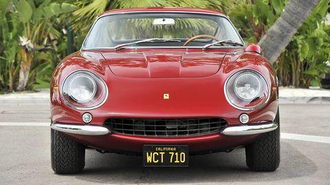 Automotive design, Mode of transport, Vehicle, Land vehicle, Car, Automotive lighting, Automotive tire, Headlamp, Red, Classic car,