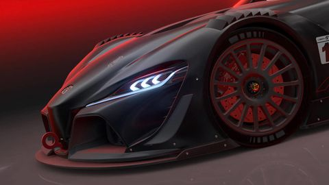 Automotive design, Red, Automotive exterior, Automotive lighting, Alloy wheel, Rim, Fender, Automotive tire, Carmine, Supercar,