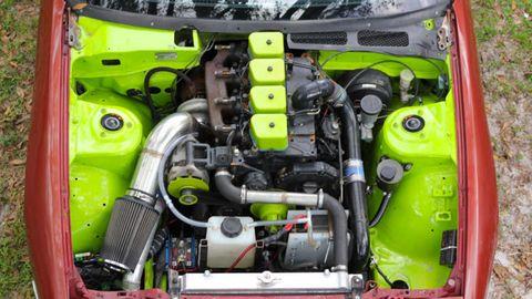 Engine, Automotive engine part, Automotive super charger part, Automotive air manifold, Hood, Fuel line, Nut, City car, Kit car, Automotive engine timing part,