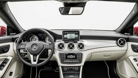 Motor vehicle, Mode of transport, Automotive design, Steering part, Automotive mirror, Steering wheel, Center console, White, Car, Vehicle audio,