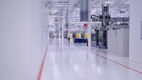 Floor, Flooring, Line, Engineering, Fixture, Commercial building, Parallel, Electricity, Machine, Composite material,