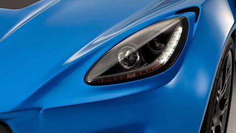 Blue, Automotive design, Automotive lighting, Headlamp, Electric blue, Light, Azure, Teal, Automotive light bulb, Performance car,
