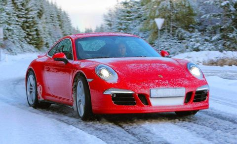 Winter, Automotive design, Vehicle, Land vehicle, Freezing, Car, Red, Performance car, Snow, Rim,