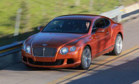 Road, Vehicle, Infrastructure, Automotive design, Bentley, Grille, Car, Rim, Automotive tire, Fender,