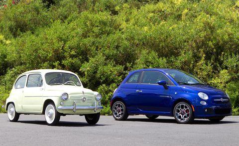 Land vehicle, Vehicle, Car, City car, Motor vehicle, Coupé, Fiat 500, Subcompact car, Classic car, Fiat,