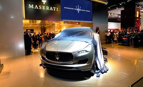 Automotive design, Event, Vehicle, Grille, Concept car, Car, Personal luxury car, Headlamp, Performance car, Luxury vehicle,