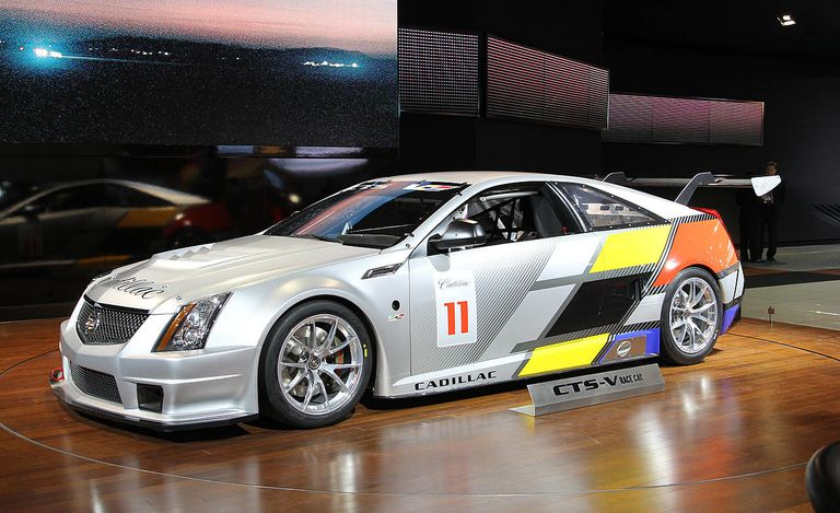 Cadillac CTS-V Coupe Race Car at 2011 Detroit Auto Show