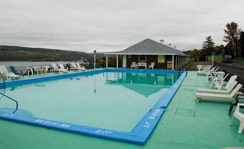 Swimming pool, Leisure, Fluid, Aqua, Azure, Composite material, Resort, Outdoor furniture, Leisure centre, Sunlounger,