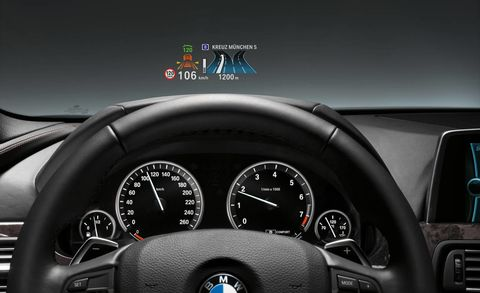 BMW HeadUp Display In Color - Auto display