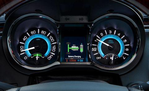 Motor vehicle, Mode of transport, Transport, Speedometer, Gauge, Tachometer, Trip computer, Measuring instrument, Teal, Luxury vehicle,