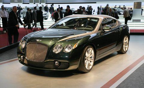 Automotive design, Mode of transport, Vehicle, Land vehicle, Car, Grille, Personal luxury car, Luxury vehicle, Bentley, Exhibition,