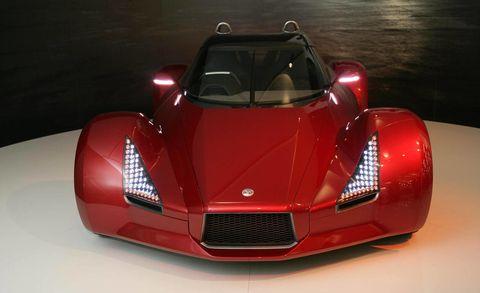 Mode of transport, Automotive design, Vehicle, Red, Car, Automotive exterior, Hood, Fender, Glass, Automotive lighting,