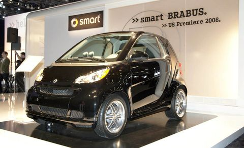 Even Economical City Cars Can Have A Sporty Personality At Least That S The Thinking Goes Into 2009 Smart Fortwo Brabus Introduced Los