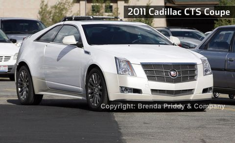 Future Car Spy Shots Of The 2011 Cadillac Cts Coupe Find More Spy