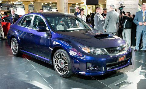 2011 Subaru Impreza Subaru Wrx Sti At New York Auto Show