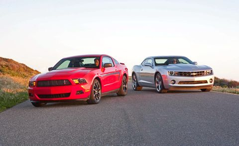 Mustang Vs Camaro >> Complete Comparison Test Of The Chevrolet Camaro V 6 And The Ford