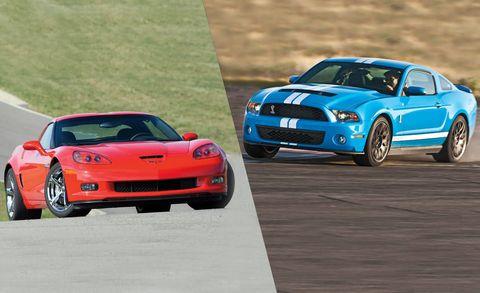 2010 Chevrolet Corvette Grand Sport Vs 2017 Ford Shelby Gt500