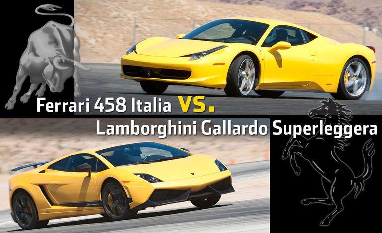Ferrari 458 Italia vs. Lamborghini Gallardo Superleggera